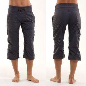 Lululemon Gray Studio Crop Pants w/ Cinchable Hems